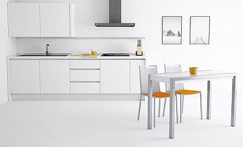 Concept Minor Bianco Lucido Tavolo Da Cucina Allungabile