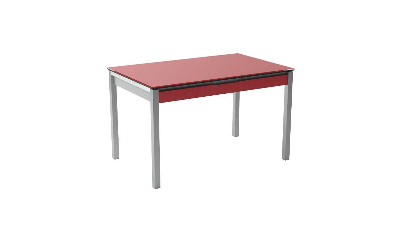 Camel rosso lucido tavolo da cucina allungabile con cassetto for Tavolo cucina con cassetto