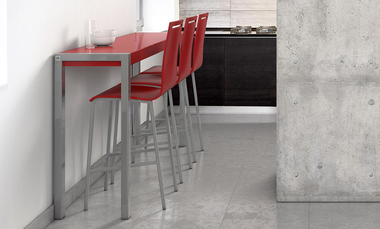 Cumbre nero lucido tavolo alto ideale per spazi stretti