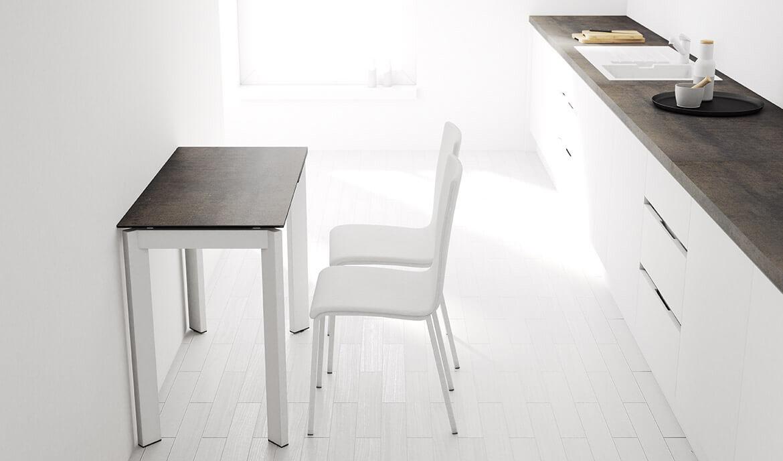 Tavoli Da Cucina Piccole Dimensioni.Poker Rosso Lucido Tavolo Da Pranzo E Living Allungabile